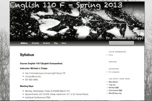 English Composition, Spring 2013