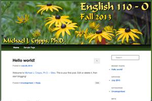 English Composition, Section O (Fall 2013)