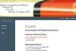 English 110 R - Fall 2014