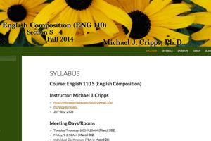 ENG 110 S - Fall 2014
