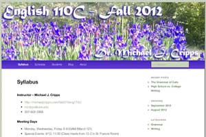 English 110 C - Fall 2012