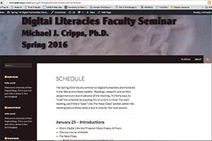 Spring 2016 DH Faculty Seminar.