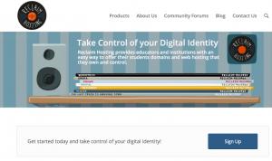 Homepage for Reclaim Hosting.