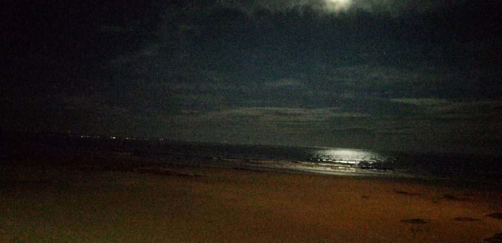 Supermoon over Wells Beach, December 3, 2017